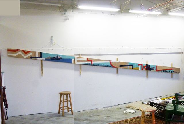 , 'Generate and Transport, Studio installation,' 2014, G. Gibson Gallery