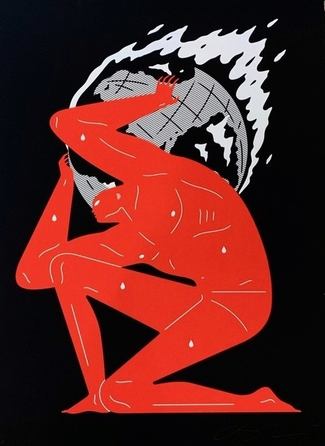 Cleon Peterson, 'World on Fire (Black)', 2020, Print, Hand pulled black and red screen print on 290 gsm Arches Rag paper with deckled edges. Artwork, Artsy x Forum Auctions
