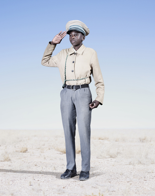, 'Herero Cadet Saluting,' 2012, KLOMPCHING GALLERY