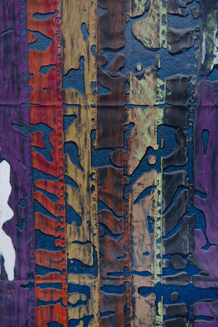 JPW3, 'Before (flag)', 2021, Painting, Oil pastel and wax on canvas, Night Gallery