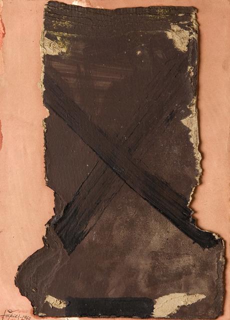 , 'Composition sur Fond Rouge,' 1960, Galerie Lelong & Co.