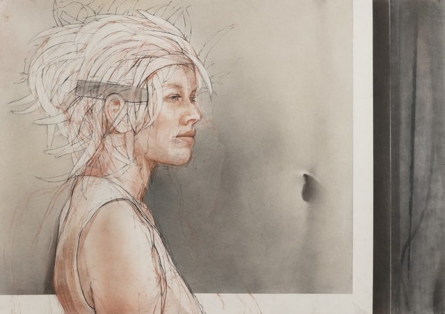 , 'Face and Body / figurative work, woman in a museum ,' 2019, Andra Norris Gallery