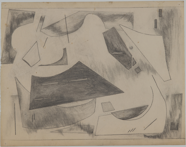 "Alice Trumbull Mason, 'Drawing for ""Colorstructive Abstraction""', 1944-1945, Drawing, Collage or other Work on Paper, Graphite on paper, Washburn Gallery"