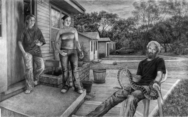 Edgar Jerins, 'Sandee, Crystal and Dave with Trinity', 2005, ACA Galleries
