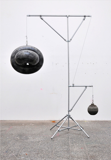 Michael Sailstorfer, 'U22', 2014, Sculpture, Concrete, iron, fiberglass, epoxy resin, truck tire, inner tubes, PROYECTOS MONCLOVA