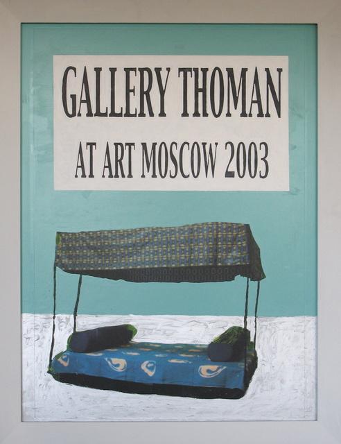 ", 'Plakatentwurf ""Amphibienbett"",' 2002, Galerie Elisabeth & Klaus Thoman"