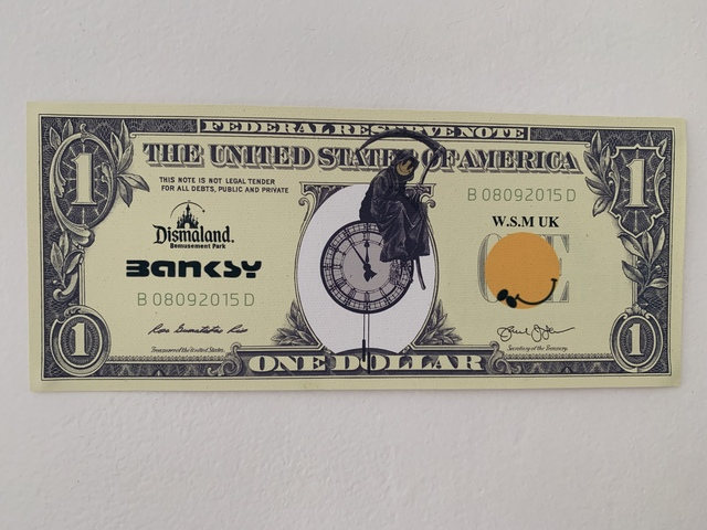 "Banksy, 'BANKSY DISMALAND US DOLLAR ""GRIN REAPER"", DISMAL DOLLAR, COMPLETE WITH COA', 2015, Arts Limited"