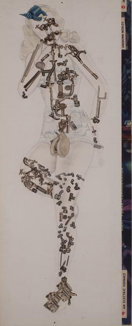 , 'Mechanical Girl - Blue Bow,' 2015, Conduit Gallery