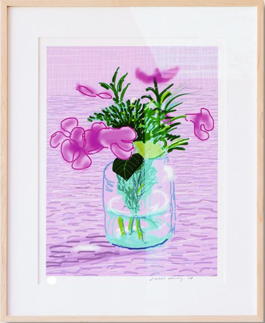 David Hockney, ''Untitled, 329' Lilac, iPad Drawing', Rhodes
