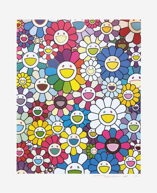 Takashi Murakami, 'A Field of Flowers Seen from the Stairs to Heaven', 2018, Print, Screenprint in colours, Lougher Contemporary