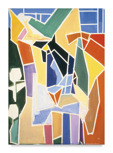 , 'The Blande Interior with Table-White Lines and Squares,' 1949, Miles McEnery Gallery