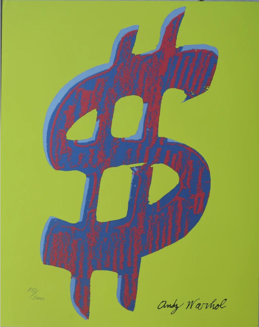 Andy Warhol, 'Dollar Sign $, Yellow', 1986, Print, Lithograph, Lyons Gallery
