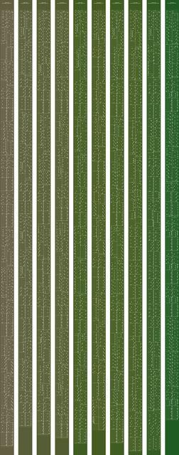 , 'metamorphosis music notation numeral 6,' 2015, Johan Deumens Gallery