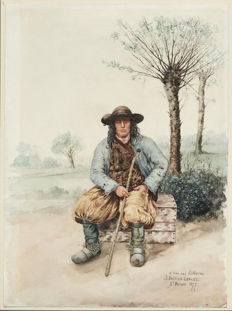 Jules Bastien-Lepage, 'Portrait of a Breton', 1877, Mireille Mosler Ltd.