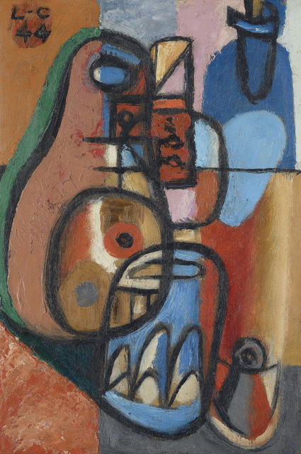 , 'Bouteilles et verres,,' 1944, Galerie Zlotowski