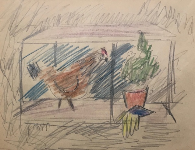 , 'Chicken and Plant,' Early 20th century, Bakker Gallery
