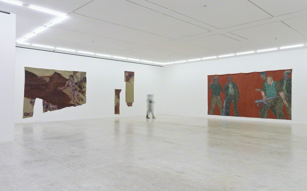 "Installation view of ""Leon Golub: Bite Your Tongue"" at Museo Tamayo, Mexico City."