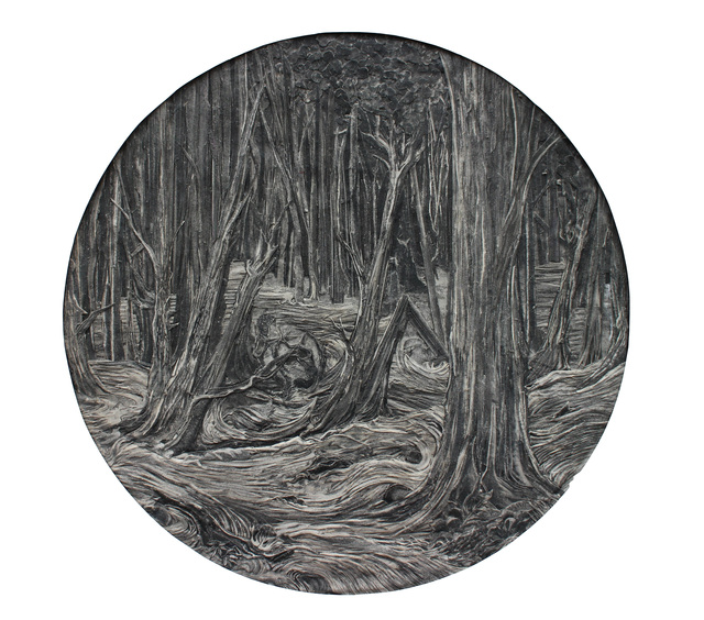 , 'Thee Deep and Gloomy Wood,' 2015, bo.lee gallery