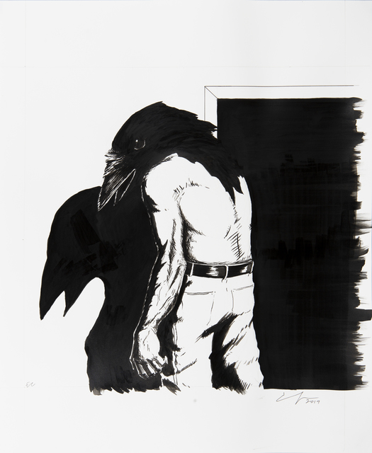 Emmanuel Crespo, 'Casted Shadow', 2019, Drawing, Collage or other Work on Paper, Ink on paper, Bermudez Projects