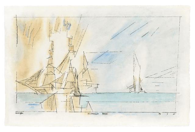 , 'Ausfahrende Barke,' 1931, Ludorff