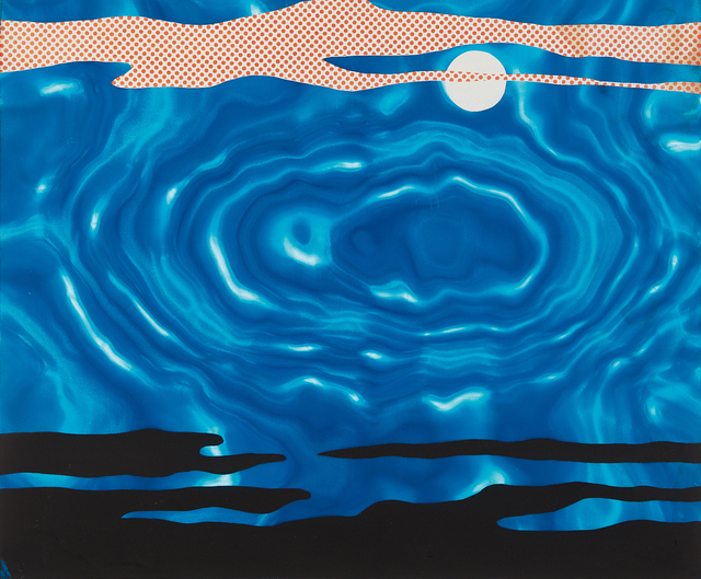 Roy Lichtenstein, 'Moonscape, from 11 Pop Artists, Volume I', 1965, Print, Screenprint in colors, on blue Rowlux, the full sheet, Phillips
