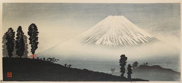 Hiroaki Takahashi (Shotei), 'Mt. Fuji in Mist', ca. 1932, Print, Japanese woodblock print, Ronin Gallery