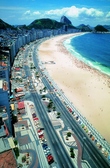 , 'Avenida Atlântica, Copacabana, Rio de Janeiro, Pavement Design,' 1970, The Jewish Museum