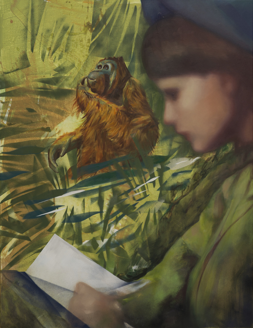 , 'Birutė Galdikas reading to Georgina in Borneo Jungle,' 2017, Simon Lee Gallery