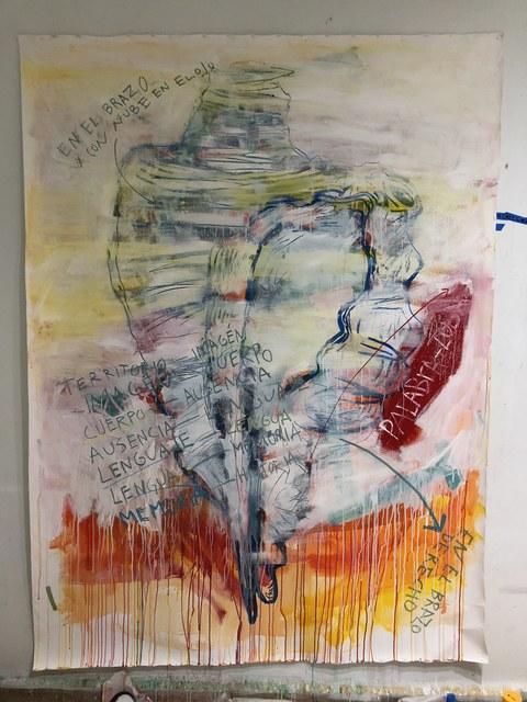 Noe Martínez, 'Crónica de las ausencias 5', 2018, Painting, Acrylic pigments on primed cotton canvas, Parque Galería