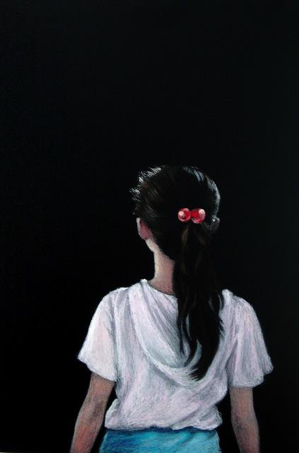 Myong Hi Kim, 'Girl', 2006, Painting, Oil pastel on chalkboard, Art Projects International