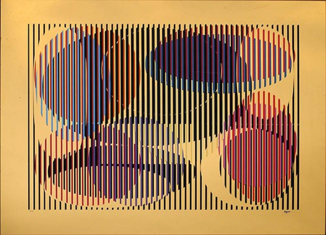 Yaacov Agam, 'Mirror Silkscreen - Geometric Abstract', 1979, Contempop Gallery