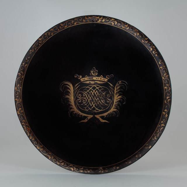 , 'A Lacquered Shield with a European Coat of Arms,' 17th century -Japan and Bengal, Gregg Baker Asian Art
