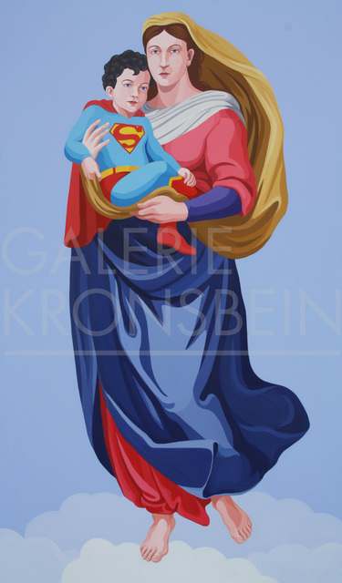 Giuseppe Veneziano, 'La Madonna di Superman', 2017, Galerie Kronsbein