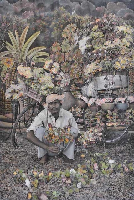 , 'The Flower Seller,' 2015, Aicon Gallery