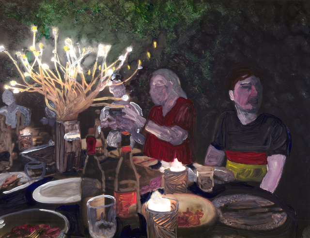 , 'the dinner party,' 2018, Marloe Gallery