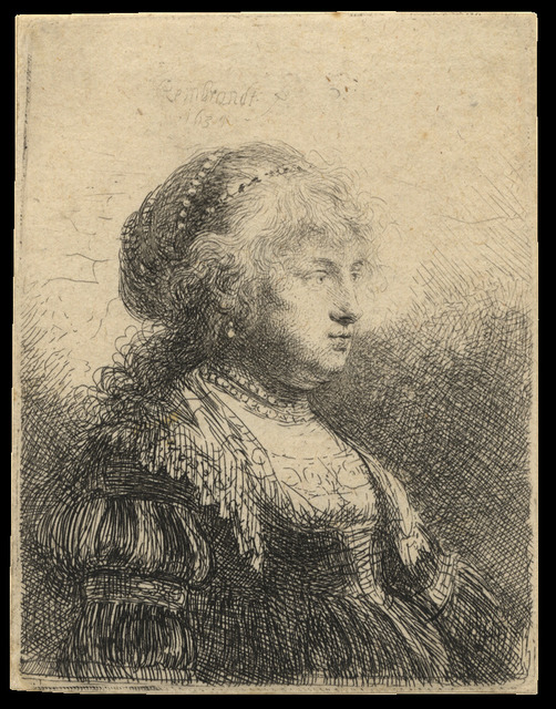, 'Saskia with Pearls in Her Hair,' 1634, C. G. Boerner