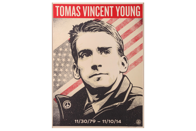 Shepard Fairey, 'Tomas Vincent Young', 2017, Chiswick Auctions