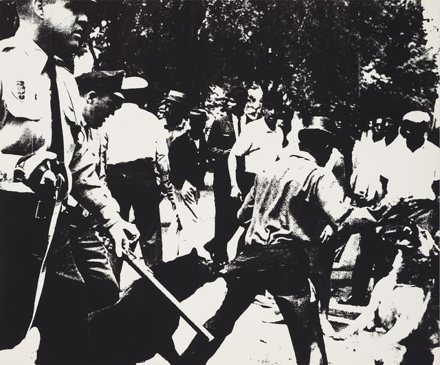 Andy Warhol, 'Birmingham Race Riot from the X + X', 1964, Galerie Hafenrichter