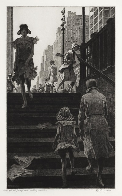 , 'Subway Steps.,' 1930, The Old Print Shop, Inc.