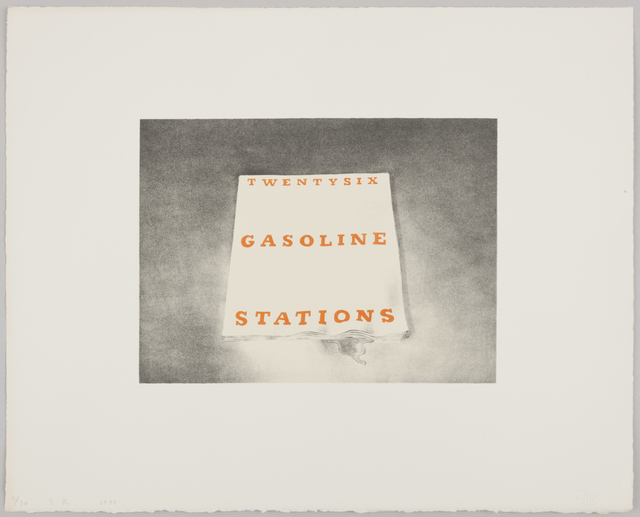 Ed Ruscha, 'Twentysix Gasoline Stations', 1970, Print, Lithograph on white Arches paper, Gagosian