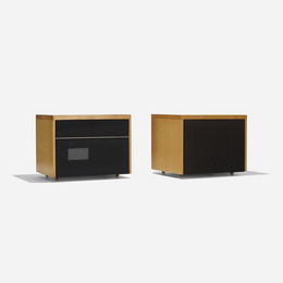custom rolling stereo cabinets for the Rand House, set of two