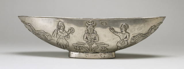 'Oval Bowl with Enthronement Scene', 7th century , Walters Art Museum