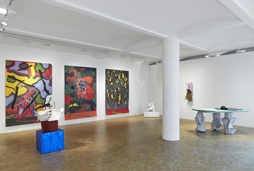 Installation view, Bill Woodrow, Fata Morgana, Crocker Land and the odd Superior Mirage, solo exhibition, Pippy Houldsworth Gallery, London (2017)