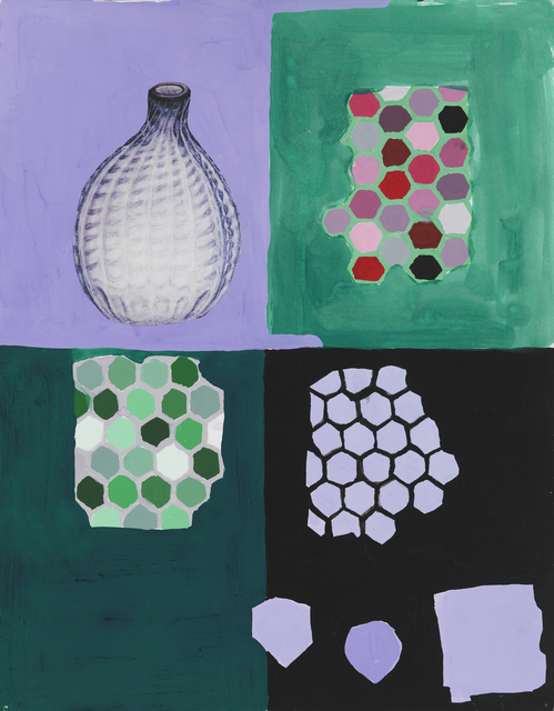 , 'Violet Bottle and Various Shapes,' 2014, Marisa Newman Projects