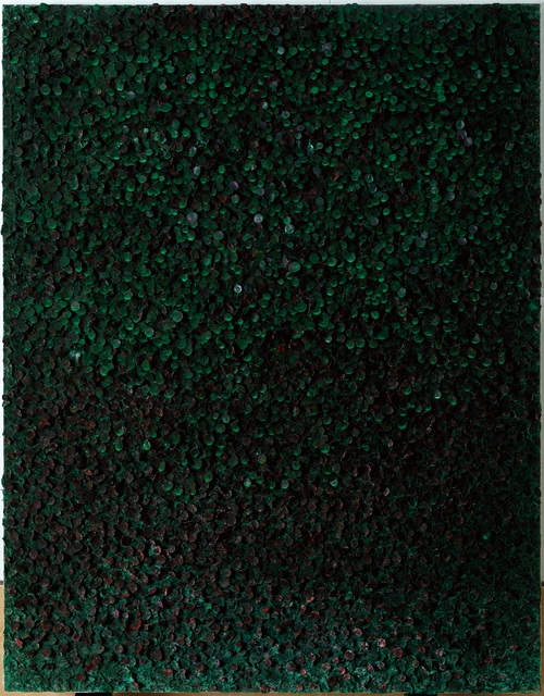 , 'Black Green Cluster,' 2015, Opera Gallery