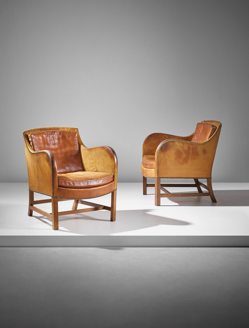 Kaare Klint and Edvard Kindt-Larsen, 'Pair of 'Mix' easy armchairs, model no. 4396', designed 1930, executed 1932, 1933, Phillips