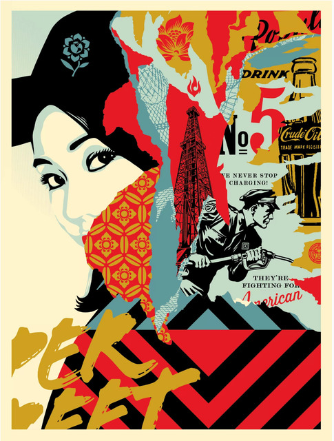 Shepard Fairey (OBEY), 'Drink Crude Oil', 2017, Art for ACLU Benefit Auction