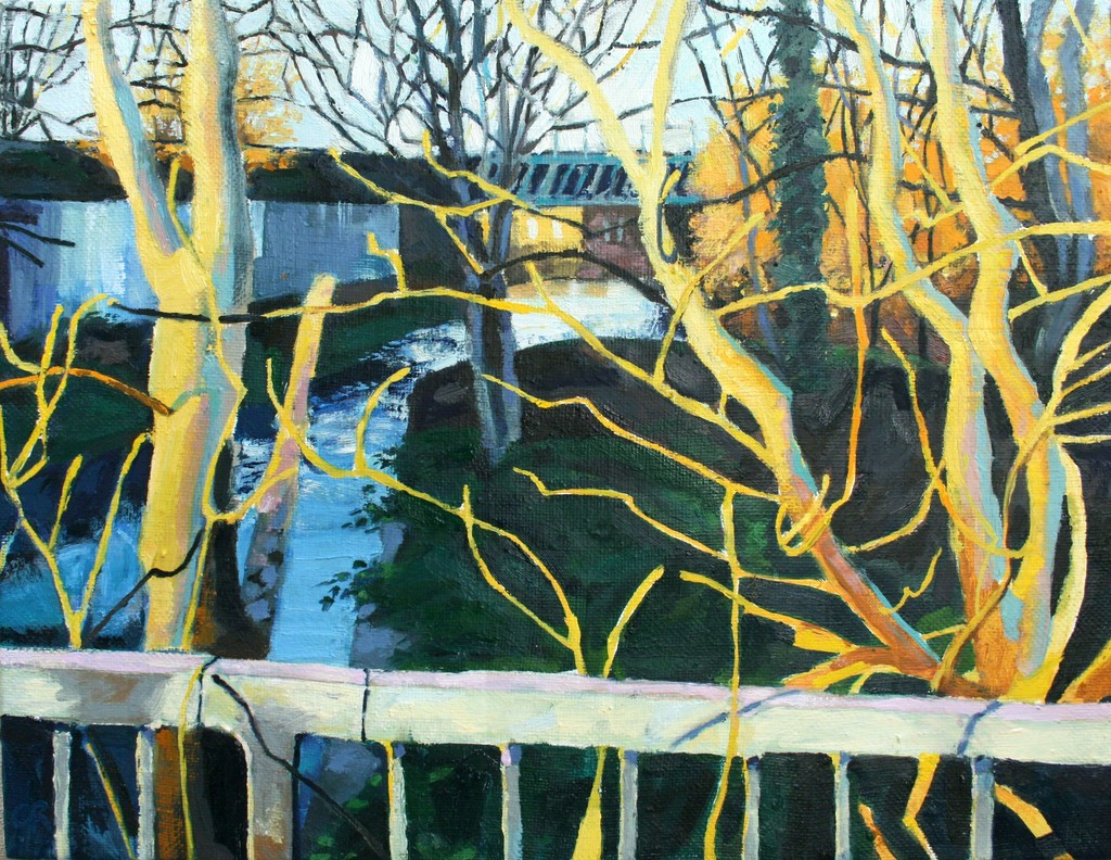 Wandle Modern reed river wandle sunset 2016 available for sale artsy