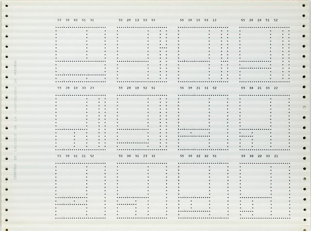 , 'Fibonacci Sequence,' 1970, GALERÍA JOSÉ DE LA MANO