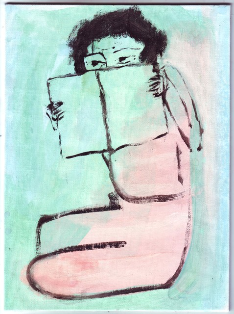 , 'Untitled (girl with book),' 2018, Galerie Parisa Kind